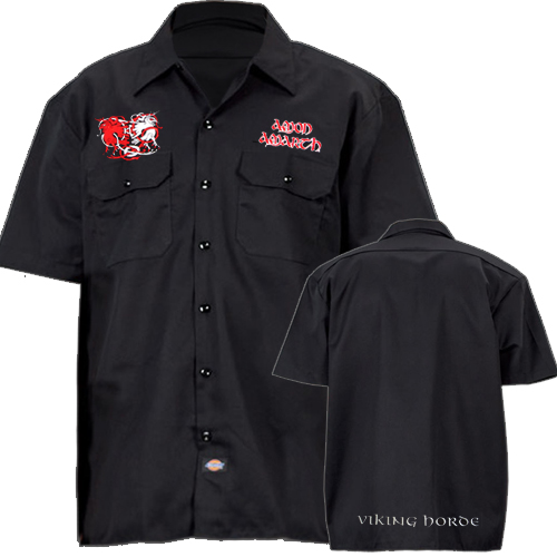 Worker Shirt - Birds - bestickt